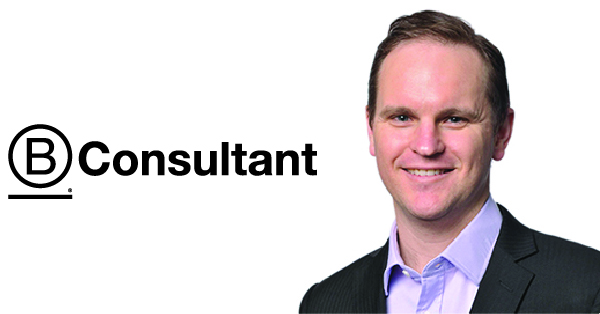 B Consultant logo with Michael Watts on the right